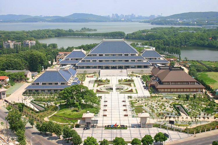 湖北省博物馆鸟瞰图资料图